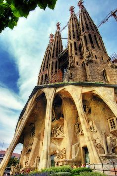 Barcelona Sagrada Familia.... started late 1800's to be finished by 2026  A. Gaudi work is being overseen by one family.