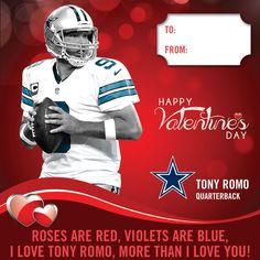 91cdec2a0  TonyRomo  DIY  ValentinesDay  5PointsBlue  DallasCowboys Dallas Cowboys