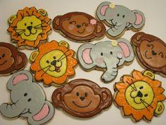 Jungle animal cookies. karenscookieblog.com