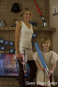 drop cloth jedi robes- NO SEW!! making these for all the kids at the party :)  paint each child's name on back of robe.