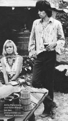 Anita and Keith onset of Michael Kohlhaas Der Rebell Anita Pallenberg, She Walks In Beauty, Rock And Roll Bands, Keith Richards, Lady And Gentlemen, My Guy, Rolling Stones, Girlfriends, Nostalgia