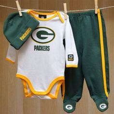 Packers Baby Bodysuit Pants Cap