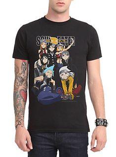 Soul Eater Group T-Shirt, BLACK
