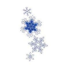 Winter Appliques | Snow Snowflakes