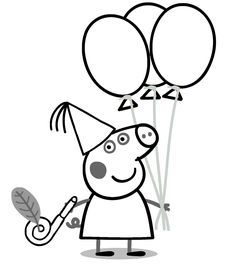 Printable Peppa Pig Coloring Pages. Have a Joy with Peppa Pig Coloring Pages. Do your children like to color pictures? If they do, the Peppa pig coloring pages Peppa Pig Coloring Pages, Hello Kitty Colouring Pages, Birthday Coloring Pages, Cartoon Coloring Pages, Free Printable Coloring Pages, Coloring Pages For Kids, Coloring Sheets, Coloring Books, George Pig
