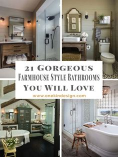Farmhouse style is a popular design aesthetic due to its simplistic charm, warmth and earthy color palette; try this style in a bathroom.