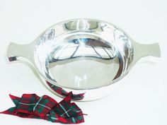Solid Silver Quaich Sterling English Vintage by DartSilverLtd