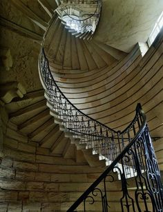 Northumberland, North East England Designed by Sir John Vanbrugh and built in the 1720s, this austere, vertigo-inducing staircase is located at Seaton Delaval Hall in Northumberland, North East England. Upstairs, Downstairs: The World's Most Amazing Staircases