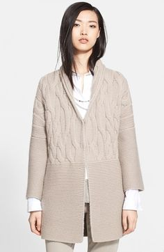 Fabiana Filippi Cable Cashmere Sweater Coat available at #Nordstrom