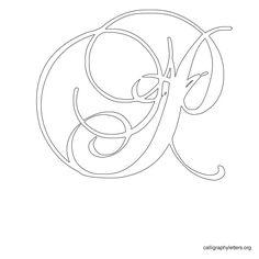 Calligraphy Letter Stencil P