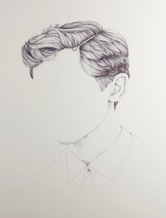 Henrietta Harris is an artist and illustrator from New Zealand who has created a series of seemingly unfinished portraits. Each drawing is a portrait with the subjects face missing — instead, the crisp black and white images are focused on fine lines and clean shapes. The hair on the subjects is incredibly detailed but the facial area of the image is completely blank. For more of her work, check out Harris' website.