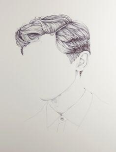 Hair drawing henriettaharris_art_003