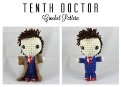 Tenth Doctor Doll ( Doctor Who) - Free Amigurumi Pattern here: http://amiguru.tumblr.com/post/38971848127/tenth-doctor-pattern