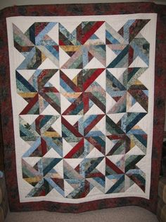 Trade Winds Quilt. Free Pattern at www.hoffmanfabrics.com.   Love ... : tradewinds quilt pattern free - Adamdwight.com