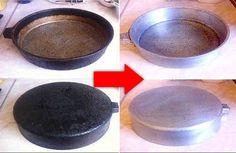 Cómo limpiar las ollas y sartenes de acero inoxidable quemadas para queden como nuevas | Mil Consejos Practicos Lava, Cleaning Solutions, Stains, Candy, Plates, Tableware, Recipes, Food, Mosquitos