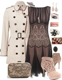 """""""Burberry London Coat"""" by whitney-salyer on Polyvore"""