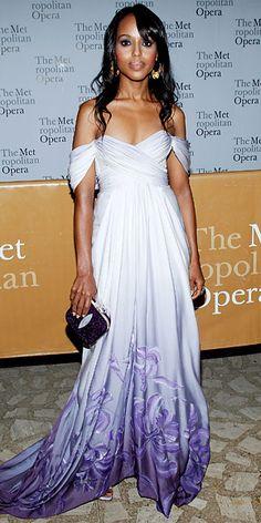 Kerry Washington in Marchesa at the Metropolitan Opera's 2010-2011 Season opening night, September 2010