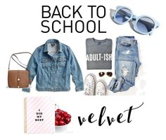 """""""Those school days"""" by lim-qiqi on Polyvore featuring Lucky Brand, Avenue, Pinko and plus size clothing"""