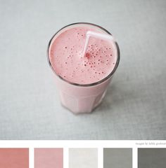 Favorite flavor and one of my go to color schemes. Color palette idea and color inspiration idea. Palettes Color, Colour Schemes, Color Combos, Pantone, Strawberry Milkshake, Gris Rose, Design Seeds, Creature Comforts, Colour Board