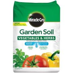 Miracle-Gro Garden Mix ft Garden Soil at Lowe's. Grow a bountiful harvest with Miracle-Gro® Garden Soil Vegetables and Herbs! Enriched with a blend of compost, plant food and other essential Concrete Garden, Garden Soil, Garden Bed, Organic Soil, Organic Gardening, Herb Gardening, Flower Gardening, Container Gardening, Compost