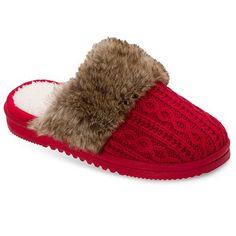Dearfoams Chalet Women's Sweater-Knit Scuff Slippers
