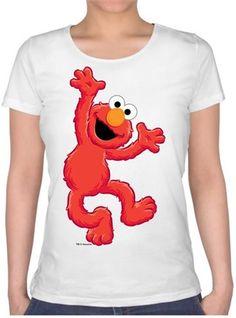 Elmo Dans Ediyor Kendin Tasarla - Bayan U Yaka Tişört