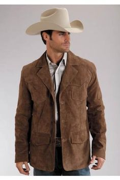 Men's Brown Pig Suede Jacket Stetson Men S Collection Outerwea Western Wear
