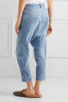 Bassike - Super Lo Slung Cropped Boyfriend Jeans - Light denim - 31