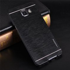 MOTOMO Brushed Metal Case For Samsung Galaxy A3 A5 A7 Aluminium+ PC Phone Cases For Samsung A3 A5 A7 J3 J5 J7 2016 Note 7 Case
