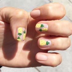 Pineapple Manicure - Cute Nail Art