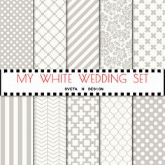 Wedding digital paper  My White Wedding  with by SvetaNDesign