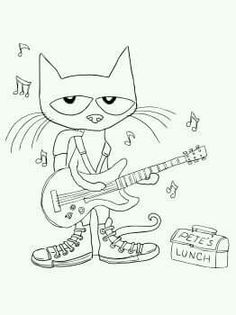 pete the cat rocking in my school shoes rocking my kindergarten shoes - Coloring Pages Kindergarten