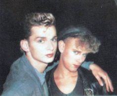 Dave Gahan & Martin Gore of Depeche Mode Martin Gore, Martin L, Dave Gahan, Alan Wilder, Enjoy The Silence, Jimi Hendrix, David Bowie, Cool Bands, Beautiful Men
