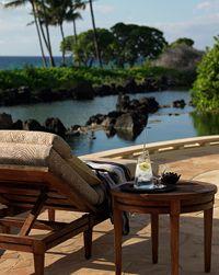 Big Island, Hawaii. Mauna Lani Resort - view from a bungalow.
