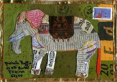 Barrissements Le petit blog pachydermique d'Elephant Gris mail art Du 17290  à Chambon, Nicole est inspiré par l'éléphant
