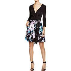 Diane Von Furstenberg Womens Wool Silk Wrap Dress Black 4...