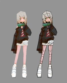 Rest on Lowpoly model created by kyu_fu m. Character Designer, 3d Model Character, Game Character Design, Character Design References, Character Design Inspiration, Character Concept, Character Art, Maya Character Modeling, Blender 3d