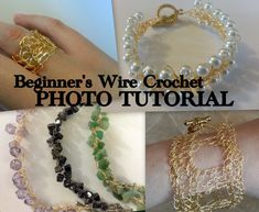 A wire crochet tutorial. Perfect for getting started crocheting with wire!