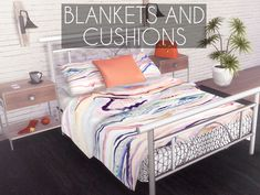 The Sims 4 Blankets and Cushions by descargassims The Sims 4 Pc, Sims Four, Sims Cc, Mods Sims, Sims 4 Game Mods, Sims 4 Beds, Sims 4 Traits, Muebles Sims 4 Cc, Pelo Sims
