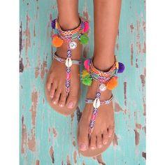 Hot Lava slippers Brasil Pompon (alleen nog 36, 37, 42!)