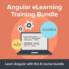 Angular eLearning Training Bundle Learn To Code, Free Courses, Open Source, Web Application, Web Development, Train, Challenges, Coding, Learning