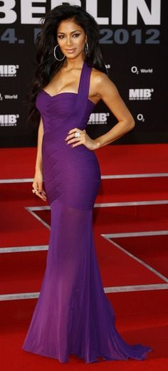 Nicole Scherzingwer~~Celebrity Fashion, Just a beautiful color/style!!