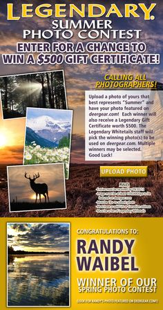 #LegendaryWhitetails #Summer Photo #Contest! Ends 8/31/13