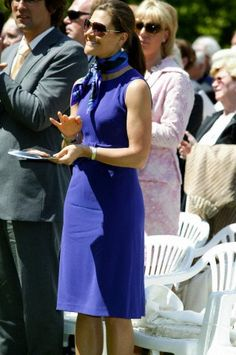 Crown princess Victoria of Sweden at the memorial concert for countess Sonja Bernadotte at the island Mainau on the 8th of May in 2009
