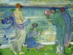 Whistler, Variations in Blue and Green, 1868