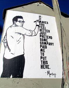At Stanley + Melrose Ave., Los Angeles-CA • Morley!