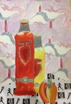 Martha, final piece for the Y8 'Fauvism' Project. St Marys Catholic High School.