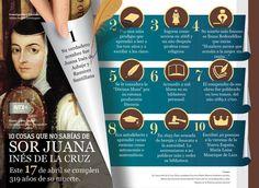 #Infografia 10 cosas que no sabías de #SorJuanaInesDeLaCruz vía @Candidman Este 17 de abril se cumplen 319 años de su muerte.