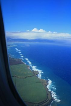 Finally made it.....landing on Maui.....I remember seeing green everywhere