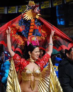 Belly Dancer http://thecaffeinateddaytripper.com/2013/12/13/how-you-too-can-accidentally-celebrate-at-the-chinese-lunar-new-year-parade-in-nyc/